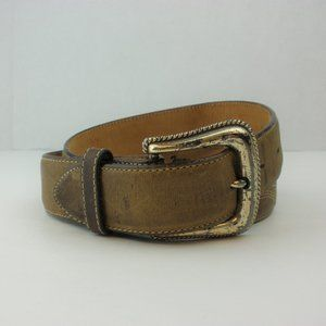 Tony Lama Brown Leather Belt Size 32